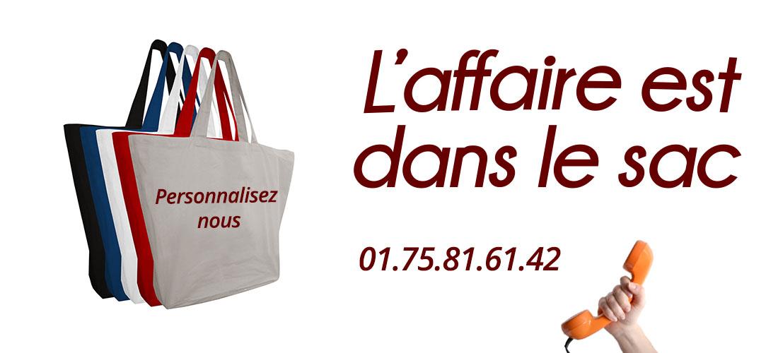 sac personnalisable Paris